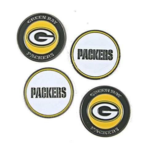 Green Bay Packers Golf Ball Markers (Set of 4)