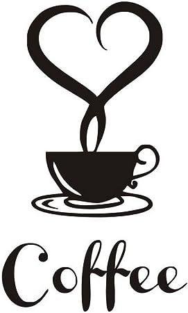 2 x tasses à café avec amour coeurs//wall art decal stickers.