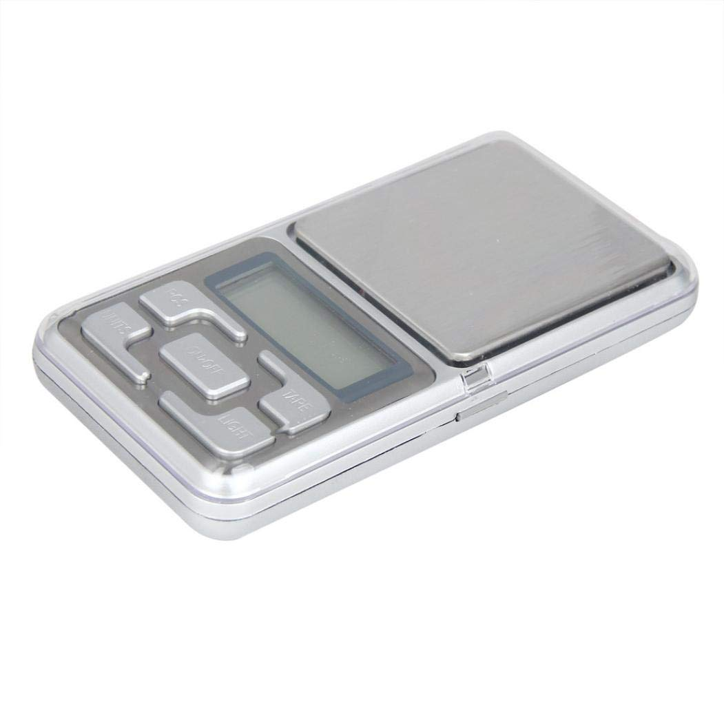 ❤JPJ(TM)❤️_Home decoration Electronic Scale,1pcs 500g x 0.1g Digital Scale Jewelry Gold Herb Balance Weight Gram LCD (Silver)