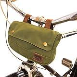 Hide & Drink, Water Resistant Canvas Bike Pannier/Bicycle Handlebar Storage, Outdoors Essentials Handmade :: Olive