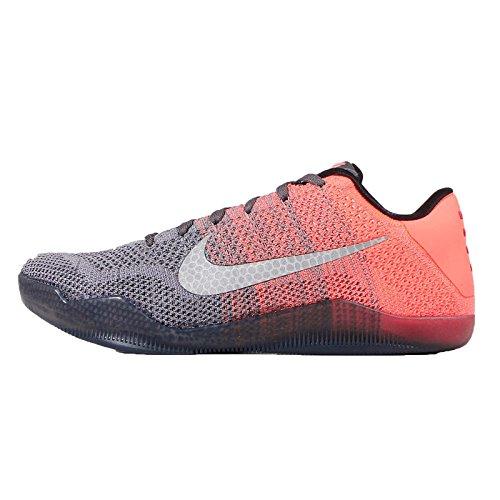 Nike Mens Kobe XI Elite Low, EASTER-DARK GREY/VLT-BRIGHT MANGO-COURT PURPLE, 11 M US