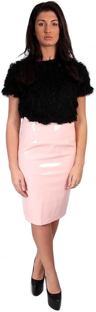 SilverStitch Falda de fiesta de PVC brillante para mujer con ...