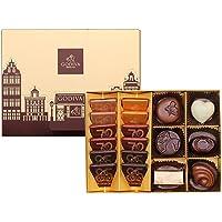 GODIVA 歌帝梵 经典口味巧克力礼盒18颗装 130g(比利时进口)(亚马逊自营商品, 由供应商配送)