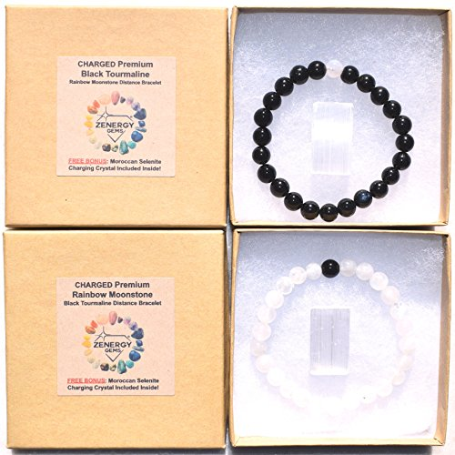 Zenergy Gems [Set of 2] Charged Distance Bracelets - Premium 7