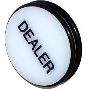 Trademark 3-Inch Dealer Puck Button (White)