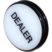 Trademark 3-Inch Dealer Puck Button (White)