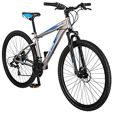 Mongoose Proxy 29-Inch Mountain Bicycle, Matte Grey, 18-Inch Frame
