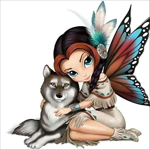 Cinhent Diamond Painting 5D Embroidery Paintings,Mosaic Needlework Crafts, Rhinestone Pasted DIY Cross Stitch, Butterfly Series Wall Arts Decoration Girls Boys Gifts (E)
