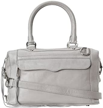 Rebecca Minkoff MAB Mini Satchel Handbag,Soft Grey,One Size
