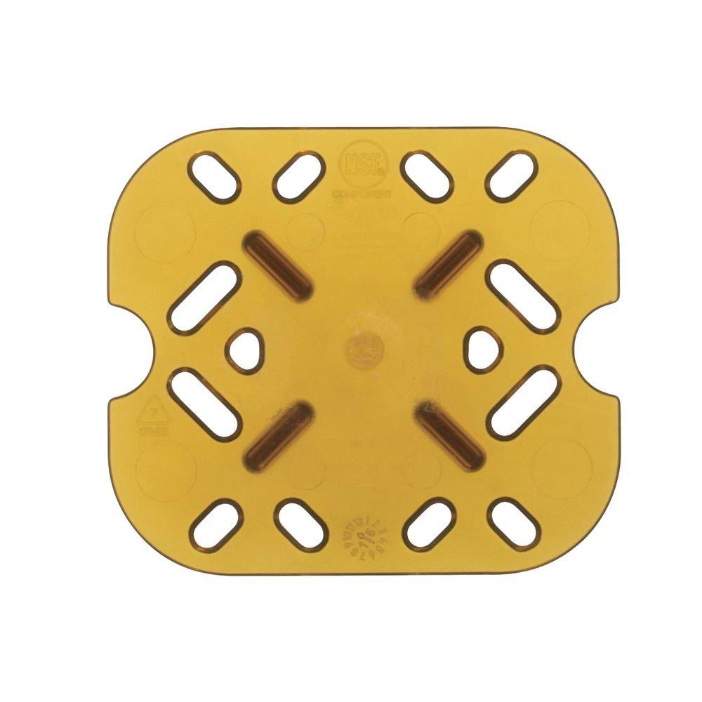 Vollrath 23600 Super Pan 1/6 Size High Temp Amber Plastic False Bottom