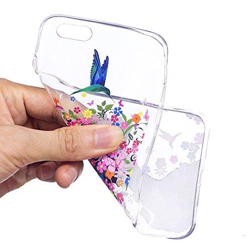 Coque iPhone 6 / 6S Fille de fleur Premium Gel TPU Souple Silicone Transparent Clair Bumper Protection Housse Arrière Étui Pour Apple iPhone 6 / 6S Avec Deux cadeau