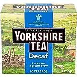 ヨークシャーカフェイン抜きのティーバッグ80パックあたり (Taylor's) (x 2) - Yorkshire Decaf Teabags 80 per pack (Pack of 2)