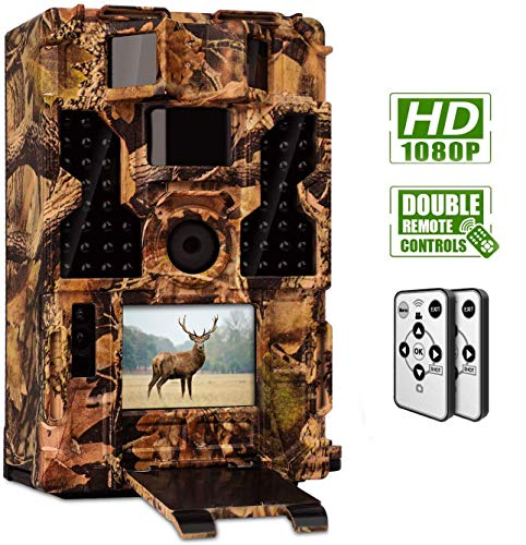 CLOBO Trail Camera- Waterproof 20MP 1080P Game Camera with Night Vision Motion Activated 0.2s Trigger Speed 3PIR 48IR LEDs 120° Detecting Range CamsTime Lapse for Wildlife Monitoring Home Security (Wild View Camera)