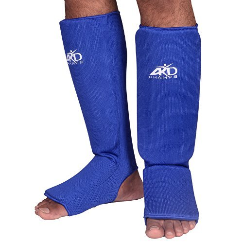 ARD Shin Instep Protectors, Guards Pads Boxing, MMA, Muay Thai (Blue, XL) by ARD-Champs