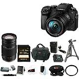 Panasonic Lumix DMC-G7 Digital Camera with 14-140mm + 100-300mm Lens Bundle