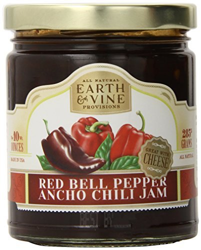 10 Ounce Chili (Earth & Vine Provisions Red Bell Pepper and Ancho Chili Jam, 10 Ounce by Earth & Vine)