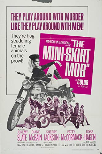 Berkin Arts Movie Poster Giclee Print On Canvas-Film Poster Reproduction Wall Decor(The Mini-Skirt Mob 2) ()