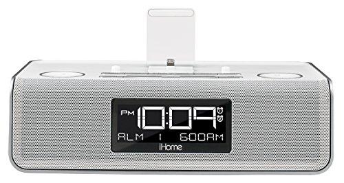 iHome iDL43W Dual Charging Stereo FM Clock Radio with Lightn
