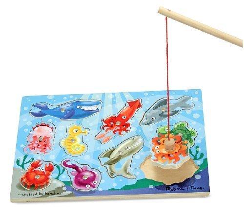 磁気釣りポールゲーム+ Free Melissa & Doug Scratchアートmini-padバンドル[ 37785]の商品画像