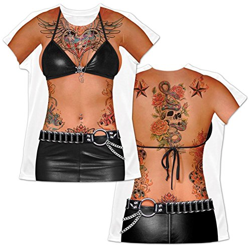 Tattoo Girl Redneck T-Shirt Halloween Costume
