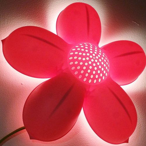 Children's Pink Flower Wall Lamp, Bulb Is Included