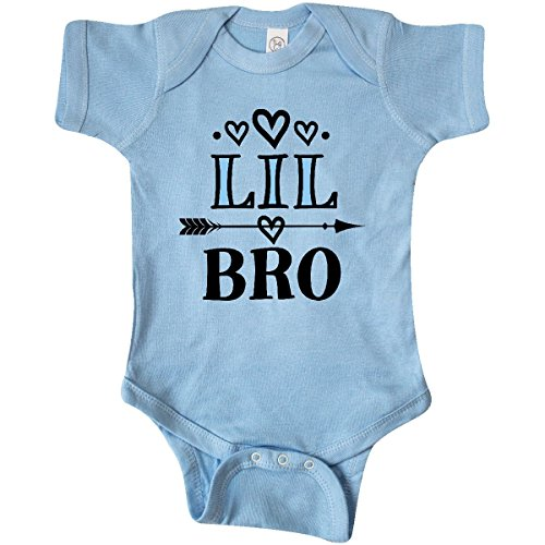 inktastic - Lil Bro Announcement Boys Infant Creeper Newborn Baby Blue 2df08 ()