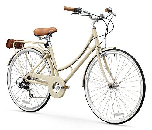 FIRTH SPORTS Nadine SE Women's Aluminum Step-Thru City Bike (Vanilla, 7 Speed/Medium)
