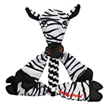 Jolly Pets Zebra Animal Flathead Tug/Squeak Toy, Large