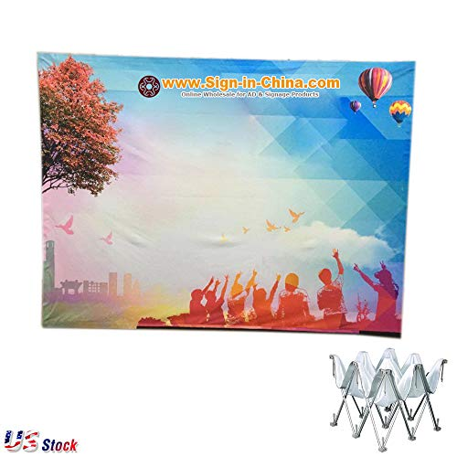 US Stock - 10ft Tension Fabric Pop Up Display Backdrop Stand Trade Show Exhibition Booth and Walls (Frame Only) - Fabric Display Tension 10'