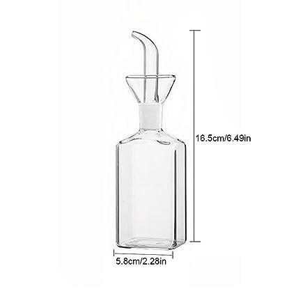 Flyvirtue Botella De Aceite De Vidrio Botellas De Vidrio Juego Botella De Aceite De Fugas para El Hogar Botella De Vinagre Botella De Soja Olla Vidrio ...