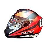 Ls2 Helmet Ff352-L Dyno Full Face Helmet ,(Red,L)