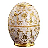 Babyprice Unique Automatic Toothpick Dispenser Golden Embossed Round Royal Toothpick Box Holder for Home and Restaurants