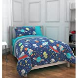 Mainstays Kids Outer Space Bed in a Bag Bedding Set, TWIN