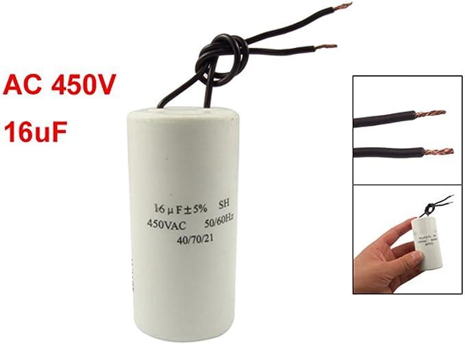 SODIAL(R) CBB60 AC 450V 16uF Condensador SH de arranque de ...