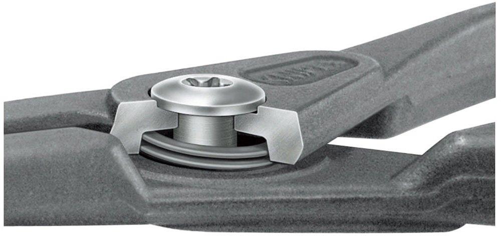 Knipex 4921A11 Pince de pr/écon pour Circlips ext/érieurs 10-25 mm coud/ée