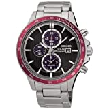 Seiko Solar Chronograph SSC433 Black Dial Stainless Steel Men's Watch