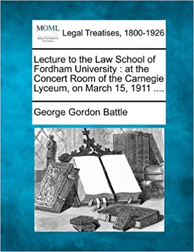 Amazoncom Lecture To The Law School Of Fordham University At The