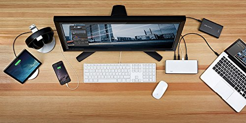 Elgato Thunderbolt 2 Dock with 50 cm Thunderbolt cable, 20Gb/s, 4K support, 2x Thunderbolt 2, 3x USB 3.0, audio input and output, Gigabit Ethernet, aluminum chassis (Certified Refurbished) by Elgato (Image #5)