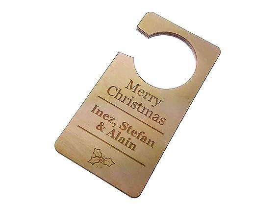 Origen Personalizado, Feliz Navidad, habitación, Puerta ...