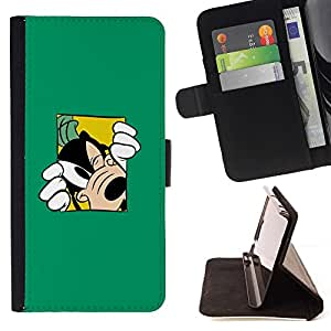 DEVIL CASE - FOR Samsung Galaxy S3 III I9300 - Goof Cartoon Dog - Style PU Leather Case Wallet Flip Stand Flap Closure Cover