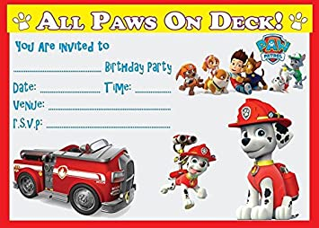 Image Unavailable Not Available For Colour PAW PATROL MARSHALL CHILDRENS BIRTHDAY PARTY