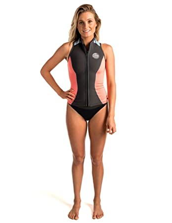 d727412914 RIP CURL Ladies G-Bomb 1mm Front Zip Neoprene Vest CORAL WVE6AW ...