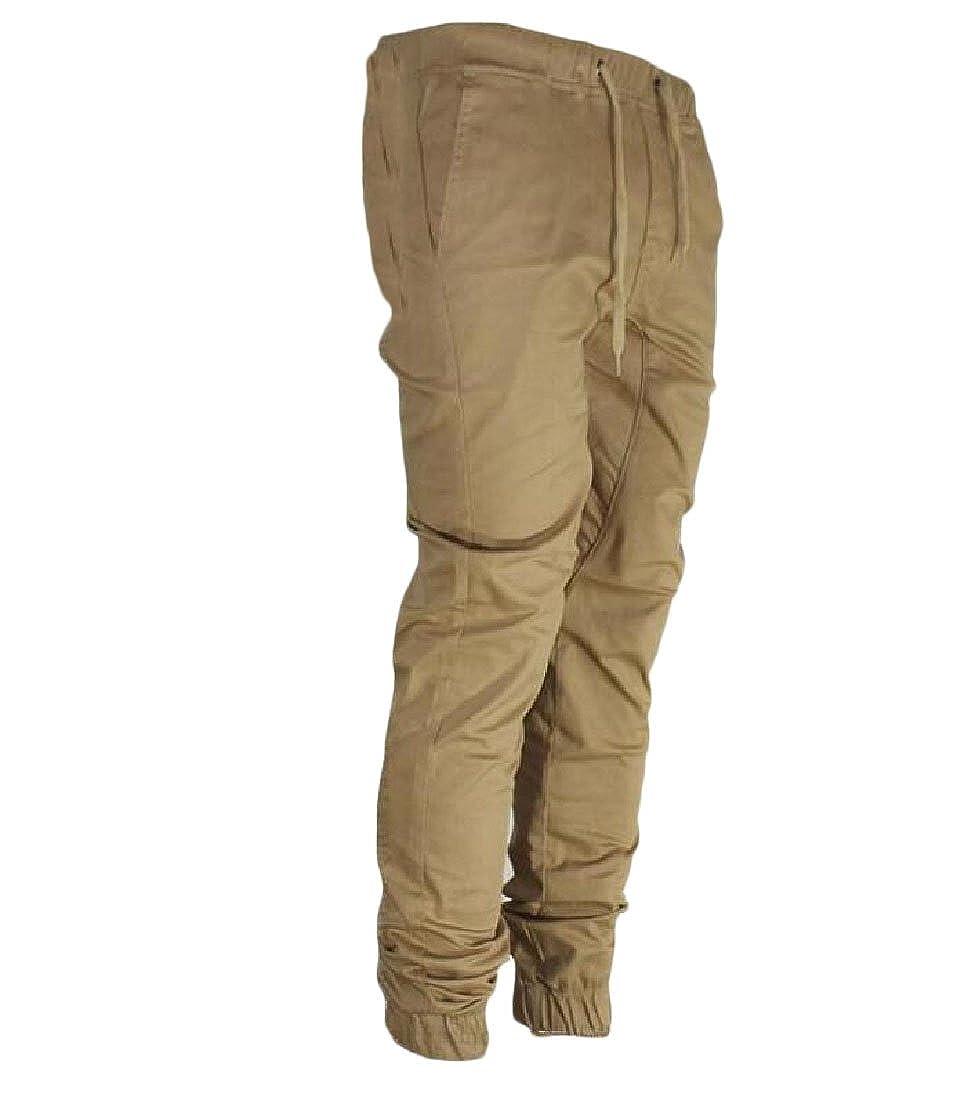 Aooword-men clothes Fitness di base in cotone per il tempo libero pantaloni casuali Sport Jogger pantaloni uomini 34