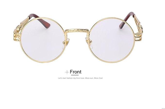 WANGMIN® Gafas De Sol Hombre Mujer Metal Wrapeyeglasses ...