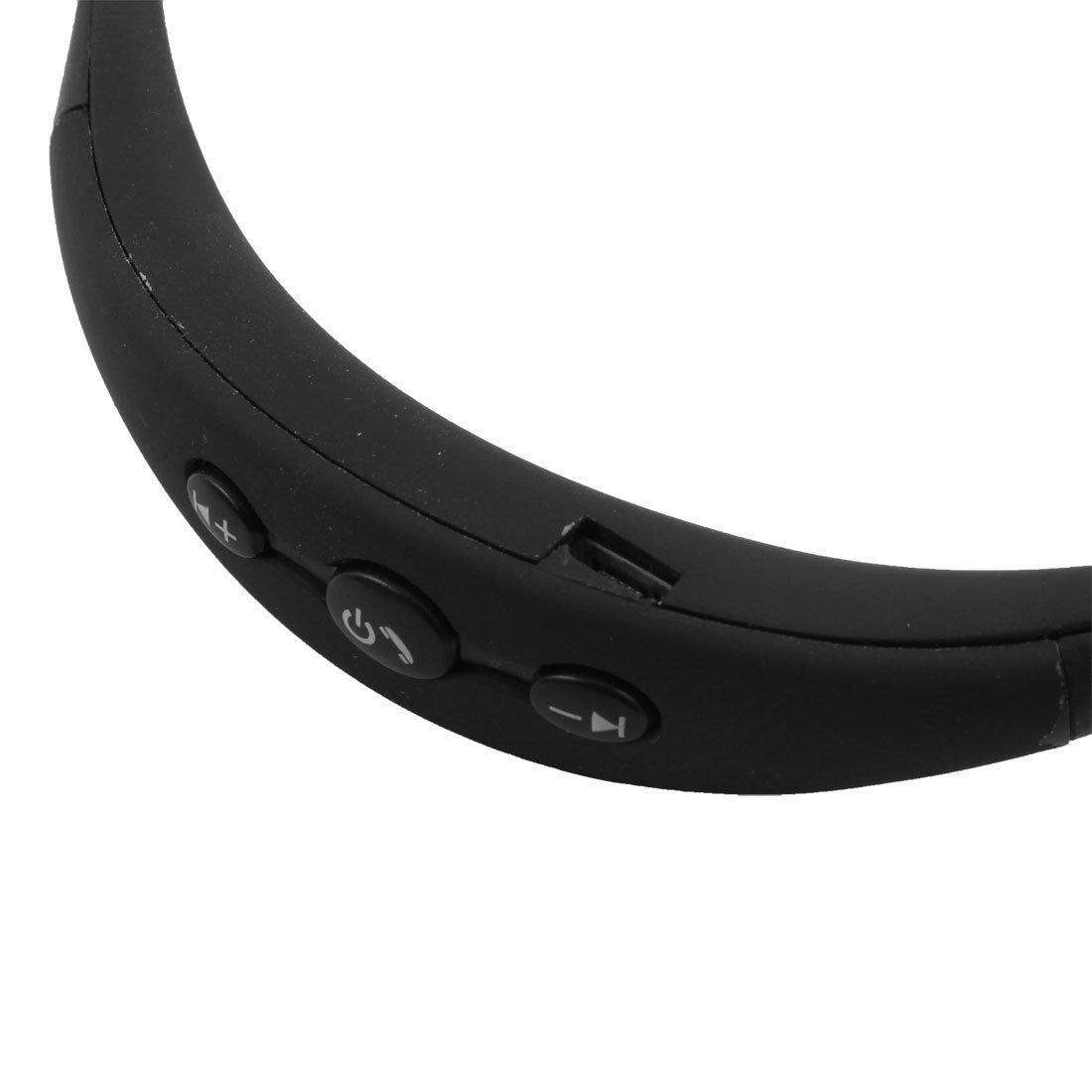 Amazon.com: eDealMax Deportes estéreo Bluetooth Manos libres inalámbrico colgante del Cuello Auriculares Auricular Negro: Electronics