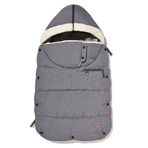Skip Hop Stroll and Go Three-Season Footmuff for Toddler, Heather Grey
