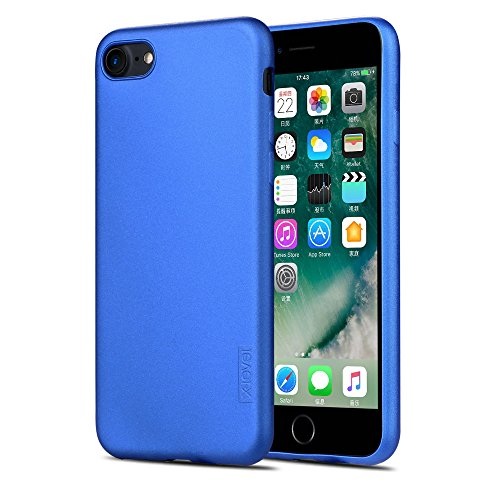 X-level iPhone 7 Case, iPhone 8 Case,Ultra Thin Soft TPU Back Cover Phone Case for Women Matte Finish Coating Grip Cover Compatible with iPhone 7 (2016)/iPhone 8 (2017) - 4.7 Blue