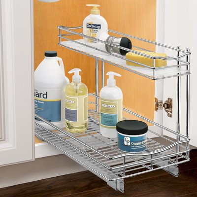 Roll-Out Undersink Drawer in Chrome Finish (Small: 11 W x 18 D x 14 H (9.82 lbs.))