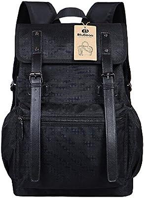 Unisex Mochila Casual Vintage Backpack Trekking Notebook Escolares Mochilas Negocio (Negro)