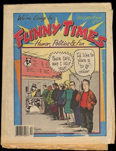 FUNNY TIMES 12 1998 Humor Politics & Fun comic tabloid newspaper Gerge Carlin from The Jumping Frog